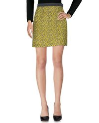 Balenciaga - Yellow Knee Length Skirt - Lyst