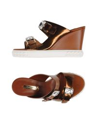 Casadei | Brown Sandals | Lyst