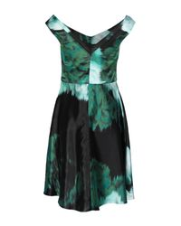 Lela Rose Green Short Dress