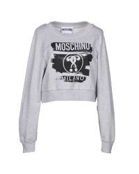 Moschino - Gray Sweatshirt - Lyst