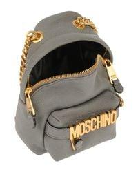 Moschino - Gray Cross-body Bags - Lyst