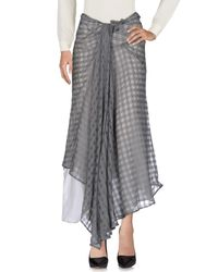 Marc Le Bihan - Gray 3/4 Length Skirt - Lyst
