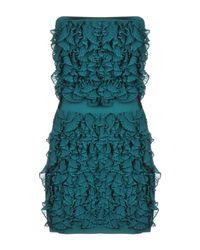 Balmain - Green Short Dress - Lyst