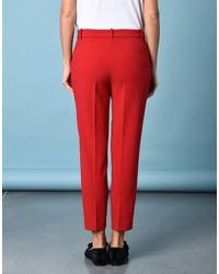 Jolie By Edward Spiers Red Casual Trouser