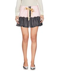 RED Valentino - Pink Mini Skirt - Lyst