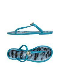 Roberto Cavalli - Blue Toe Post Sandal - Lyst