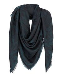 Jimmy Choo - Green Square Scarf - Lyst