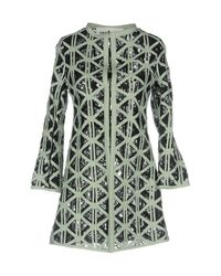 Caban Romantic Green Overcoat