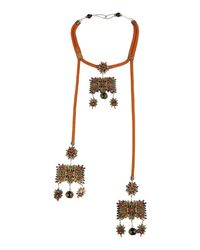 DSquared² | Brown Necklaces | Lyst