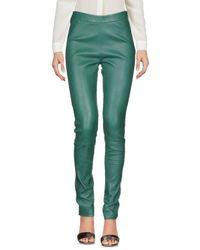 Pinko Green Casual Pants