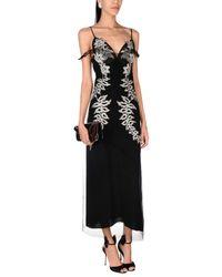 Francesco Scognamiglio Black 3/4 Length Dress