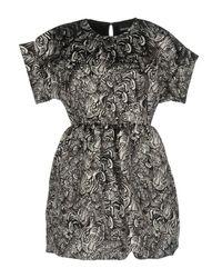 Just Cavalli - Gray Short Dress - Lyst