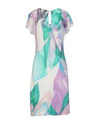 Angelo Marani - Purple Short Dress - Lyst
