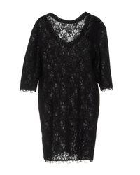 Ermanno Scervino - Black Short Dress - Lyst