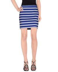 Patrizia Pepe - Blue Mini Skirt - Lyst