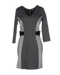 Dirk Bikkembergs - Gray Short Dress - Lyst