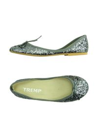 Tremp - Gray Ballet Flats - Lyst