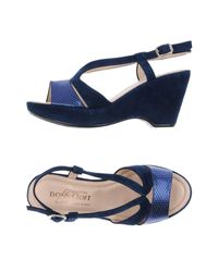 Donna Soft - Blue Sandals - Lyst