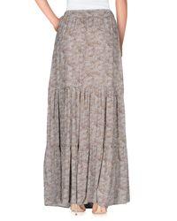 Souvenir Clubbing - Gray Long Skirt - Lyst