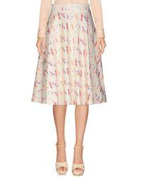 Ultrachic - White Knee Length Skirt - Lyst