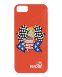 Love Moschino - Red Hi-tech Accessory - Lyst