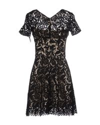Lover - Black Short Dress - Lyst