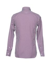 Angelo Nardelli - Purple Shirt for Men - Lyst