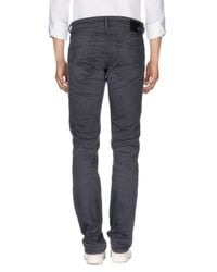 DIESEL - Black Denim Pants for Men - Lyst