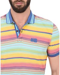 Napapijri - Blue Polo Shirt for Men - Lyst