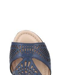 Donna Soft - Blue Sandals - Lyst