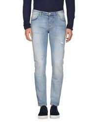 Officina 36 - Blue Denim Pants for Men - Lyst