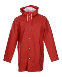 Stutterheim - Red Overcoat for Men - Lyst