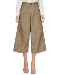 DSquared² - Natural 3/4-length Trousers - Lyst
