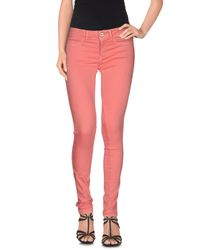 Notify - Pink Denim Pants - Lyst