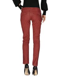 Manila Grace - Red Casual Trouser - Lyst