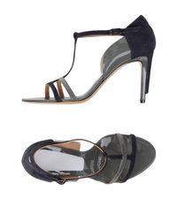 Maison Margiela - Gray Sandals - Lyst