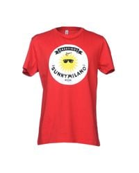 Moschino - Red T-shirts for Men - Lyst