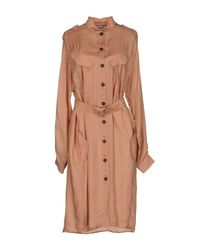 MSGM - Pink Knee-length Dress - Lyst