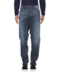 Trussardi Blue Denim Pants for men
