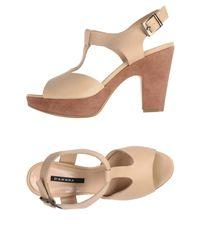 D'Ambra - Natural Sandals - Lyst