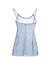 Momoní - Blue Sleeveless Undershirt - Lyst