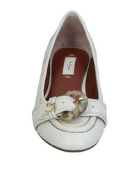 Paul Smith - White Ballet Flats - Lyst