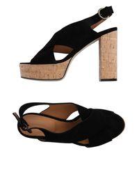 Brera Orologi - Black Sandals - Lyst