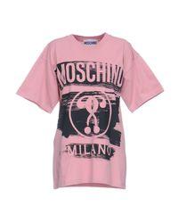 Moschino - Pink T-shirts - Lyst