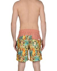 Maaji - Yellow Swim Trunks for Men - Lyst