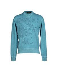 DSquared² - Blue Sweatshirt for Men - Lyst