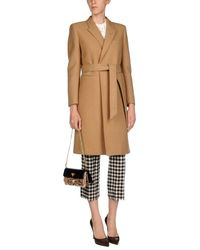 Saint Laurent - Natural Coat - Lyst