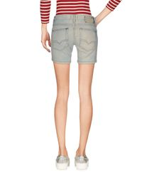 DIESEL - Blue Denim Shorts - Lyst