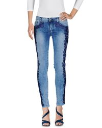 Frankie Morello - Blue Denim Pants - Lyst
