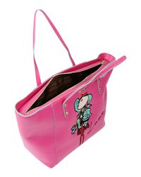 Love Moschino - Pink Doll Patch Shopping Bag - Lyst
